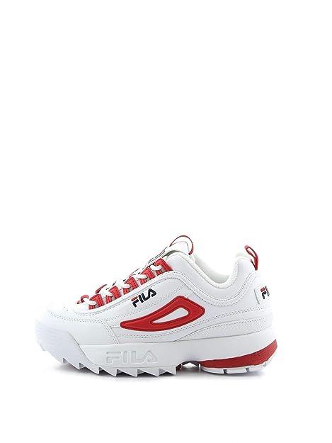 5d513967725 Zapatillas Deportivas para Mujer FILA Disruptor CB Low WMN en Cuero Blanco  1010604-02A  Amazon.es  Zapatos y complementos
