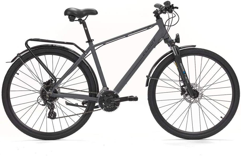 CLOOT Bici híbrida Adventure Disc,Bicicleta con Frenos hidráulicos ...