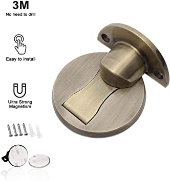 1 Pc Magnetic Doorstop Stopper Wall Door Mount Guard Safety Home Office Holder !