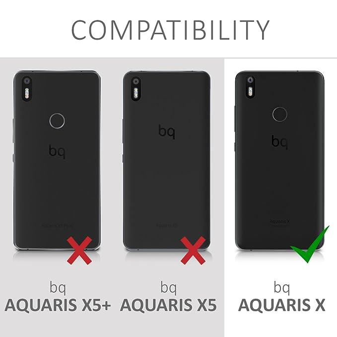 Amazon.com: kwmobile TPU Silicone Case for bq Aquaris X/X ...