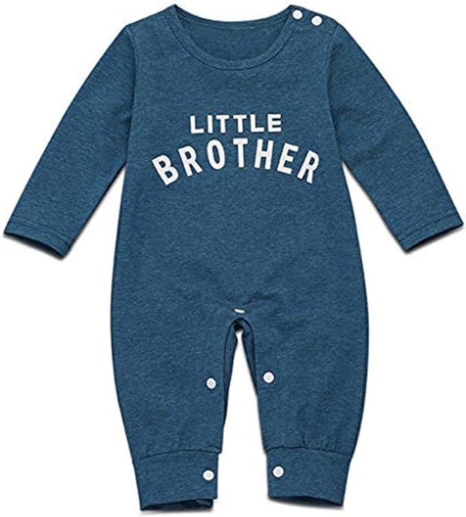 Newborn Infant Baby Boy Girl Soft Cotton Letter Romper Jumpsuit Clothes Outfits