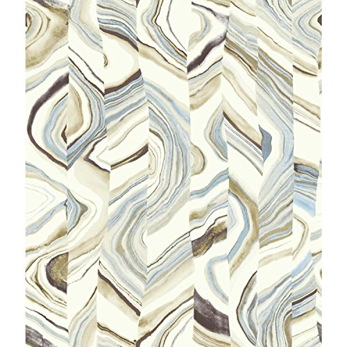 York Wallcoverings CM3307 Agate Stripe Wallpaper, Browns