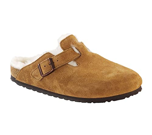 ee3101bf75 Birkenstock Women's Boston Shearling Mocha Suede clogs-and-mules 36 ...