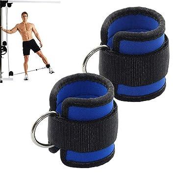 Yakamoz - Correa de tobillo ajustable para gimnasio o máquina de ejercicio, unisex, duradera