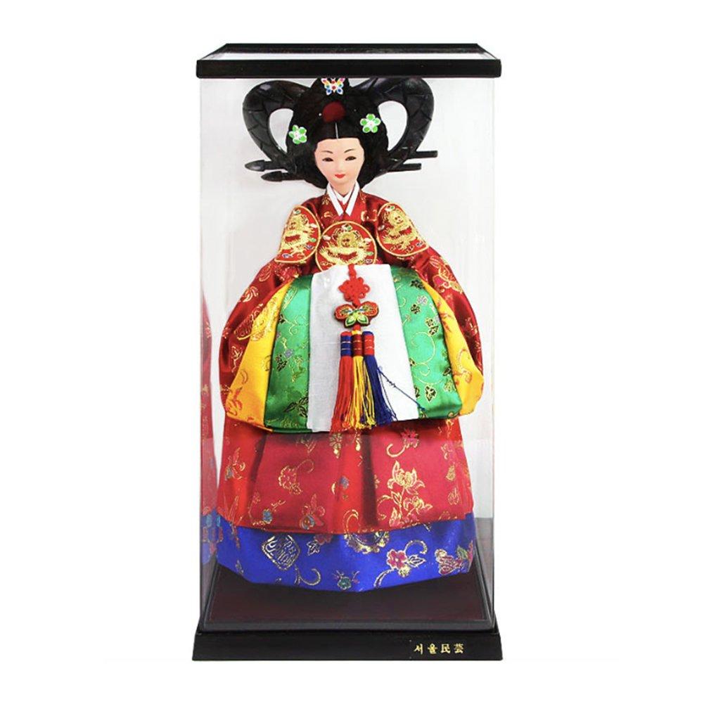 Korean Traditional Handicraft Hanbok Dolls Empress Myeongseong 15'' Figure Gift by Unknown