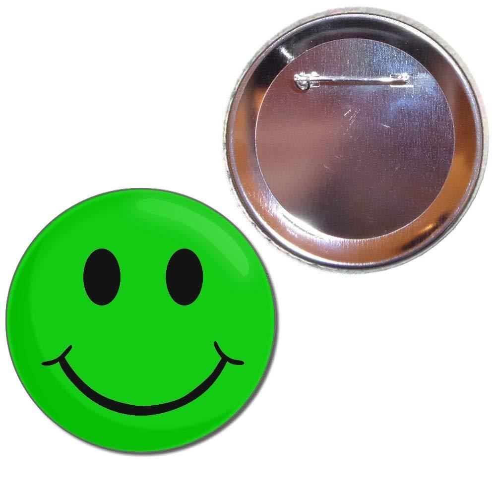Green Smiley - Bouton choix de badges de 25mm, 55mm ou 77mm taille BadgeBeast