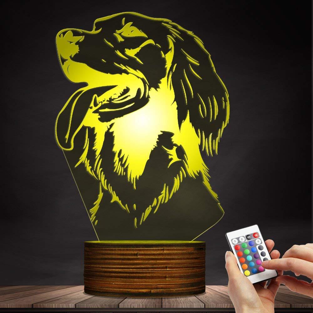 Carl Artbay 3D Irish Setter, Animal Shape Glowing LED Night Light, Modern Design Custom Name, Puppy Pet Dog Mood Light