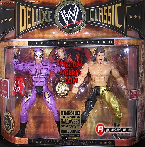 REY MYSTERIO & EDDIE GUERRERO CLASSIC DELUXE EXCLUSIVE 2-PACK WWE TOY WRESTLING ACTION FIGURES by Jakks Pacific