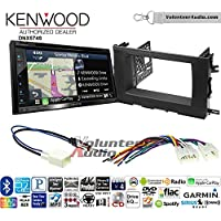 Volunteer Audio Kenwood DNX574S Double Din Radio Install Kit with GPS Navigation Apple CarPlay Android Auto Fits 2014-2015 Toyota Highlander
