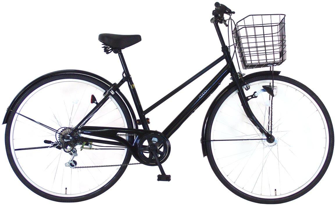 C.Dream(シードリーム) ココオートライト CC76-H 27インチ自転車 シティサイクル ブラック 6段変速 100%組立済み発送 B071WW8QNH