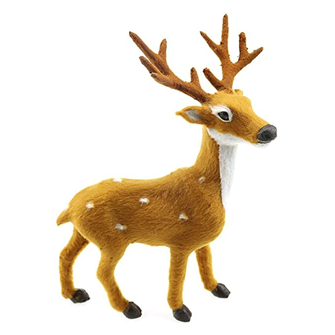 Lovely Simulation Reindeer Christmas Ornament Plush Plastic Cute Deer  Children Toy Christmas Tree Home Decorations Christmas - Amazon.com: Lovely Simulation Reindeer Christmas Ornament Plush
