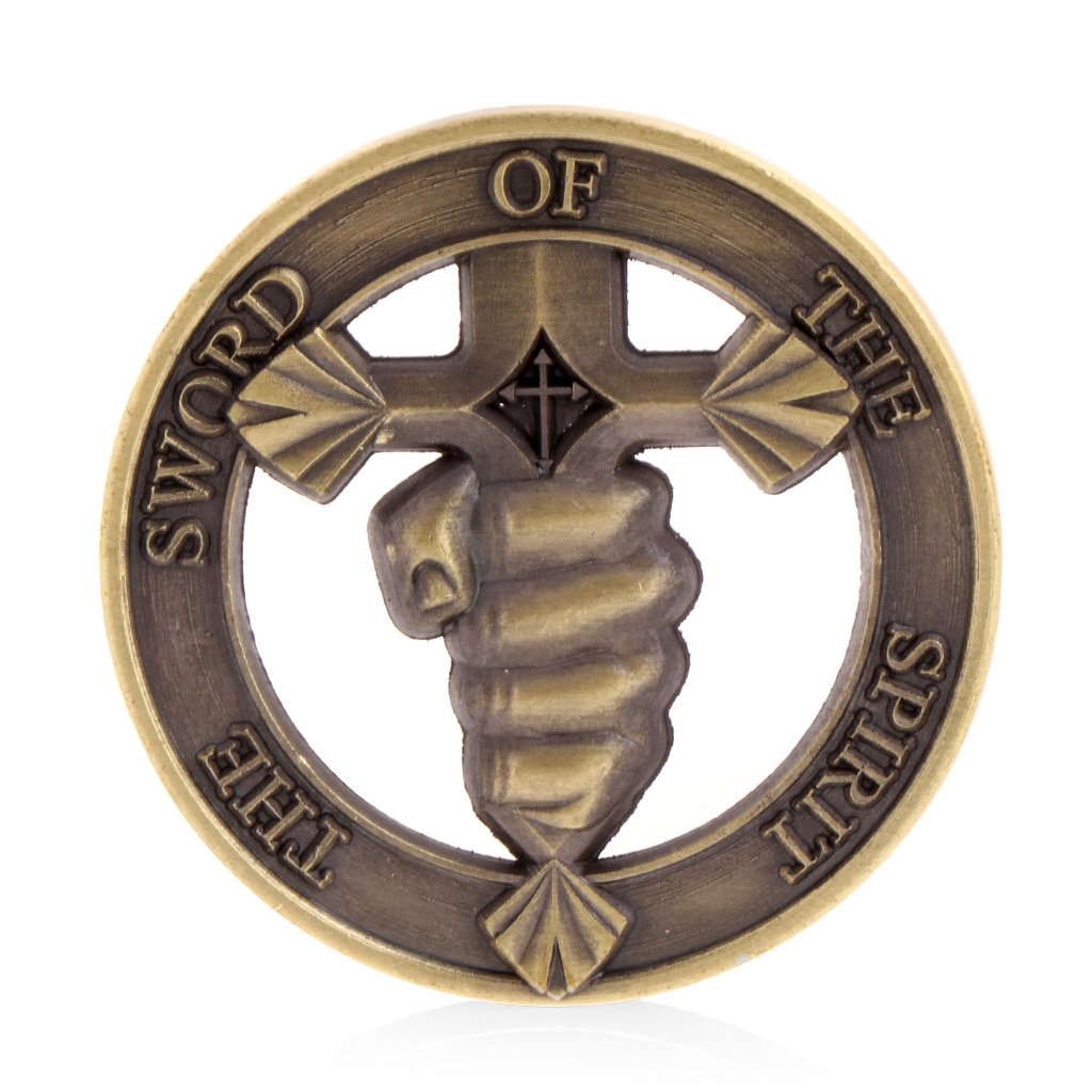 Roboco US Mint,Sword of The Spirit Commemorative Challenge Coin Collection Souvenir Token Gift US Mint