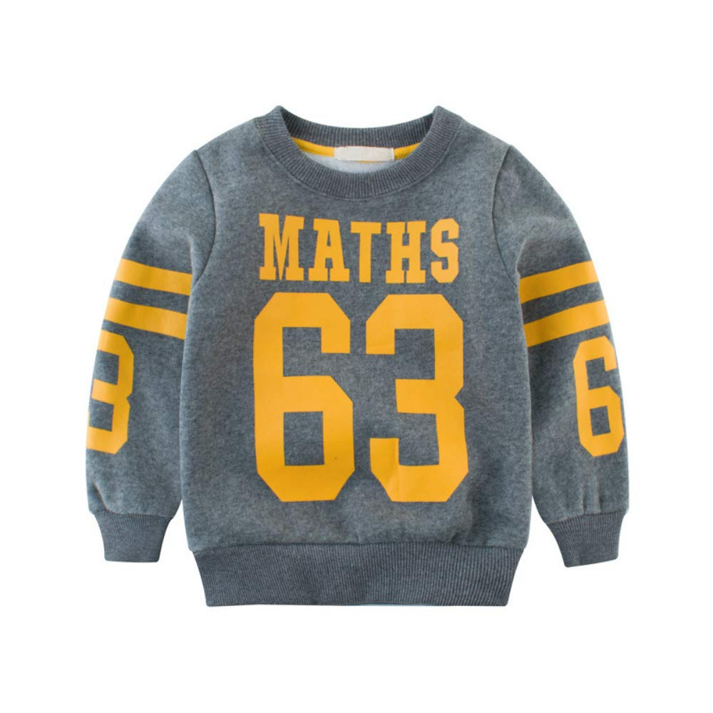 YOUZHILAN Boys Girls Cotton Long Sleeve Printed Letter Sweater