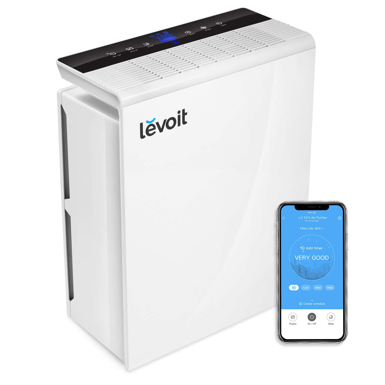 LEVOIT Smart WiFi Air Purifier for Home Large Room with True HEPA Filter, Air Cleaner for Allergies and Pets, Smokers,...