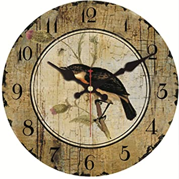 Djkaa Paisajes Naturales Relojes De Pared Flor Aves Acuáticas Diseño Vida Silenciosa Oficina Cocina Cocina Arte