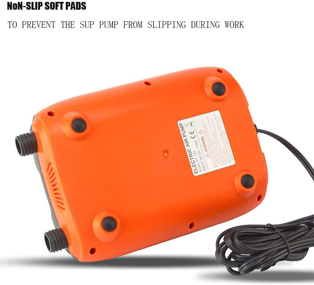 TZUTOGETHER hochdruck sup pumpe 20PSI,elektrische sup luftpumpe,12V DC Hochdruckpumpe Mit intelligenter zweistufiger /& Auto-Off Funktion,f/ür Schlauchboote Kajaks Stand Up Paddle Boards