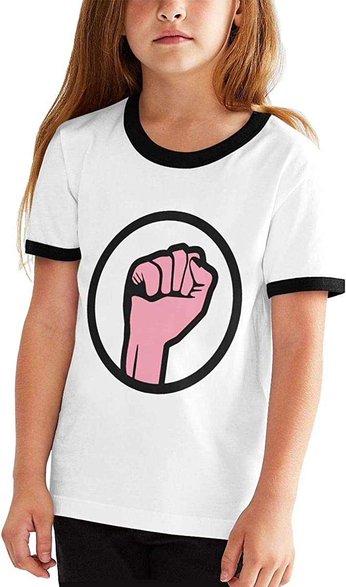 Kids Or Little Boys and Girls Manlee Fist Power to The People Revolution Unisex Childrens Short Sleeve T-Shirt
