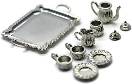 Dollhouse Miniature Silverware Set for Two