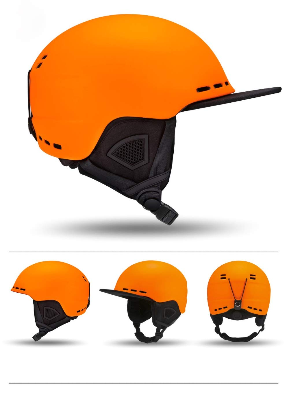 Kids Helmet, Children Safety Adjustable Bicycle Helmet for Cycling, Skating, Scooting, Skiing, Bike (56-59cm) (Color : Orange)
