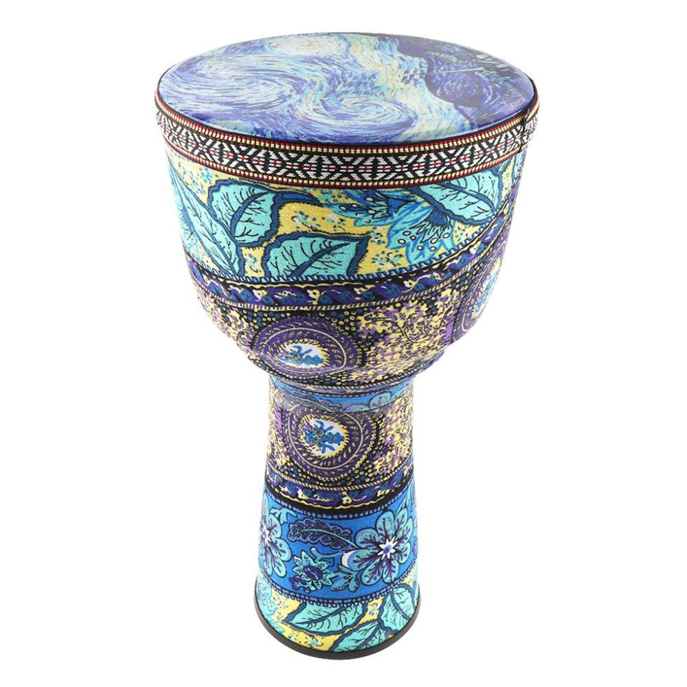 SODIAL 8-Inch Beautiful African Drum Colorful Cloth Art Colored Children'S Tambourine Beginner Musical Instrument