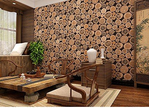 Hanmero papel pintado imitaci n madera natural color - Papel pintado imitacion madera ...