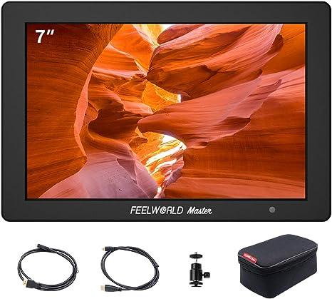 Negro Lilliput A7S 7 pulgadas 1920x1200 IPS Screen Camera Field Monitor 4K HDMI Input output Video For DSLR Mirrorless C/ámara A7 A7R A7S III A6500 A9 GH5 GH5s Ronin M