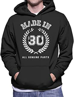Coto7 Made In 80 All Genuine Parts Men's Hooded Sweatshirt