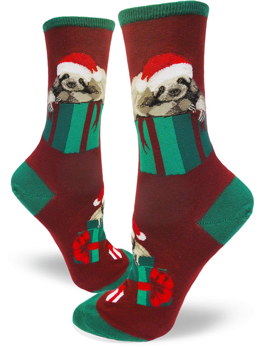Modsocks Women'S Sloth Stripe Crew Socks (Fits Most Women Shoe Size 6-10) - 1