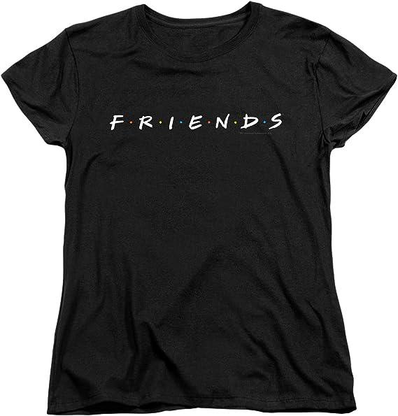 Popfunk Friends - Camiseta y Pegatinas para Mujer, diseño con Logo de la Serie de televisión, Color Negro - Negro - Large: Amazon.es: Ropa y accesorios