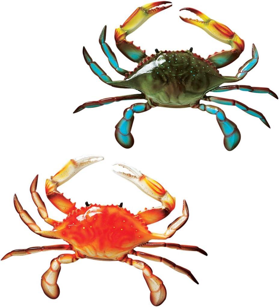 Design Toscano Tropical Crabs Wall Sculpture Set Of 2 Wall Decor Stickers Garden Outdoor Amazon Com