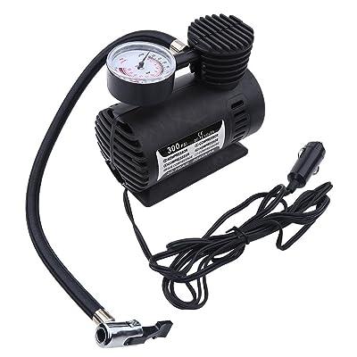 Mini Air Compressor - Portable Mini Air Compressor Electric Tire Inflator Pump 12 Volt Car 300 PSI: Automotive