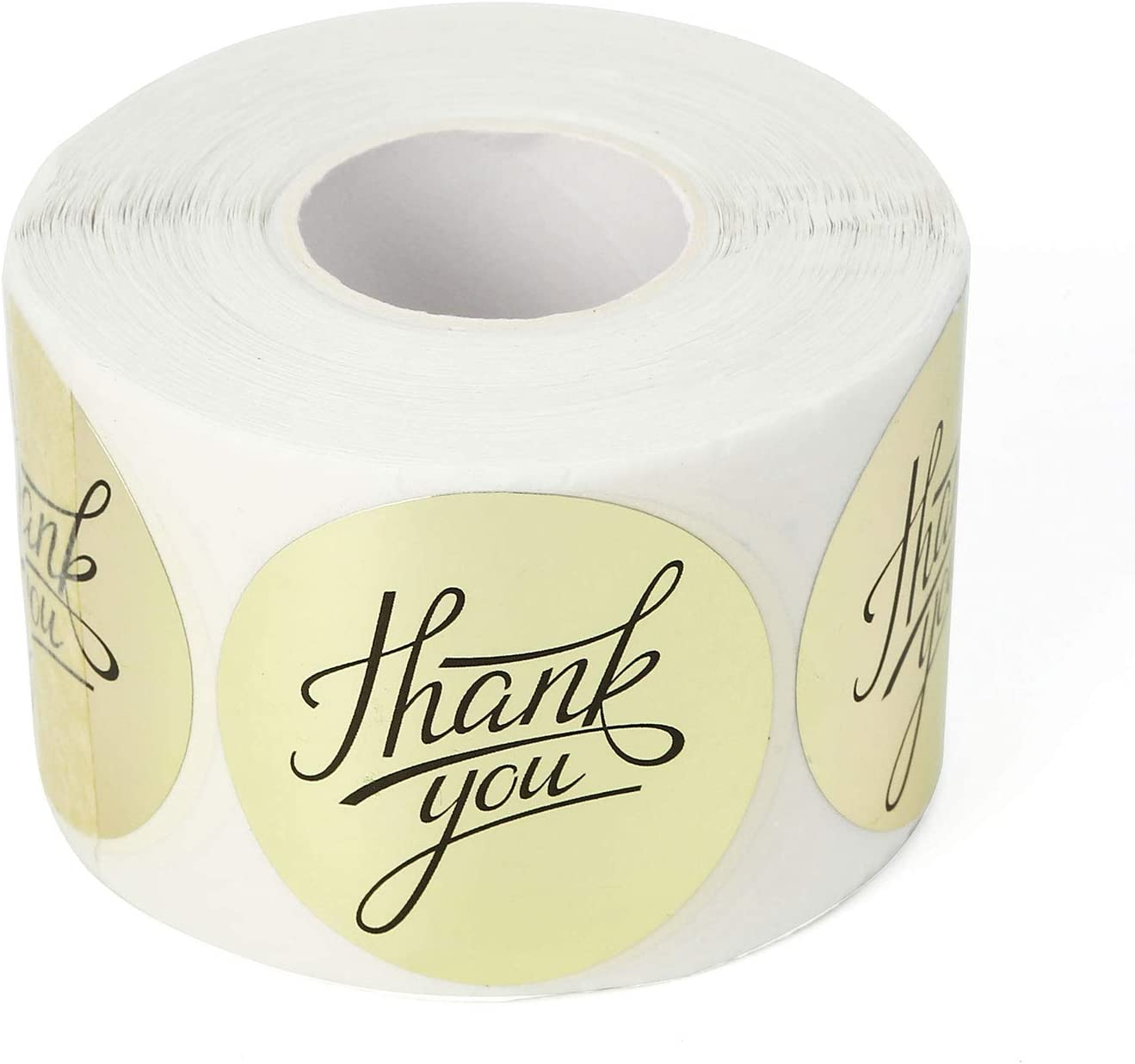 Party 1.5 Inch Thank You Stickers for Gifts 500 Pieces, Red Heart Plastic Thank You Labels by Crystal Lemon Wedding