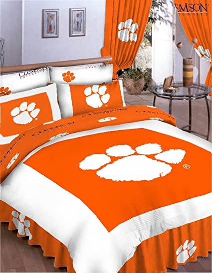 Amazon.com: College Covers Clemson Tigers Bed in a Bag Queen - With ...