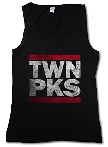 Urban Backwoods TWN PKS Donna Canotta Tank Top Woman Gym Training Fitness Shirt – Taglie S – XL