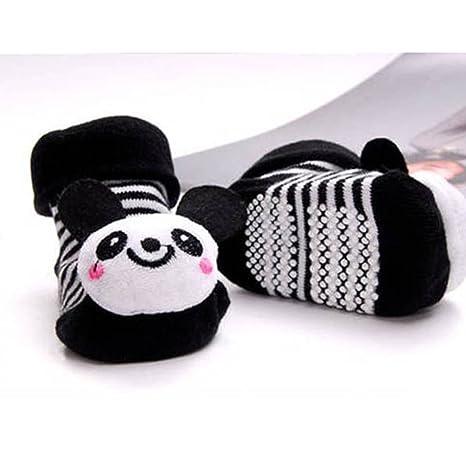 DDU Unisex Baby Niedlich 3d dibujos animados corta Calcetines Zapatillas zapatos Botines Panda