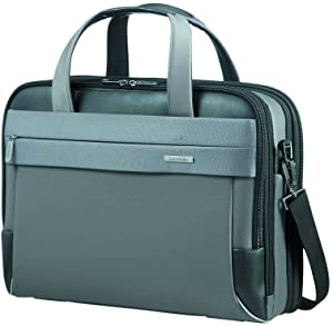 "SAMSONITE BAILHANDLE 15.6"" EXP (GREY/BLACK) -SPECTROLITE 2.0  Hand Luggage, 0 cm, Grey"