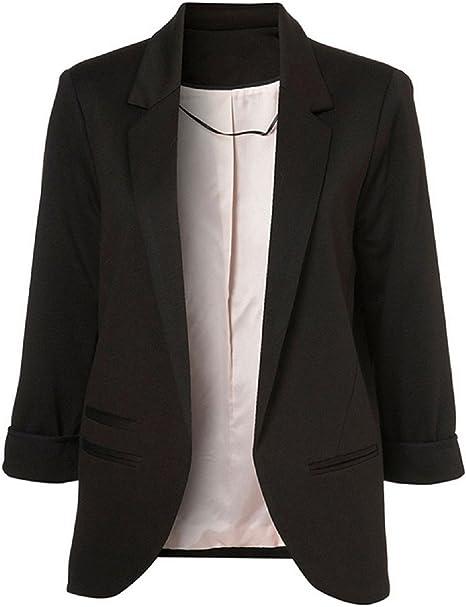 SEBOWEL Blazer Smart Casual Cardigan giacca a maniche lunghe da donna