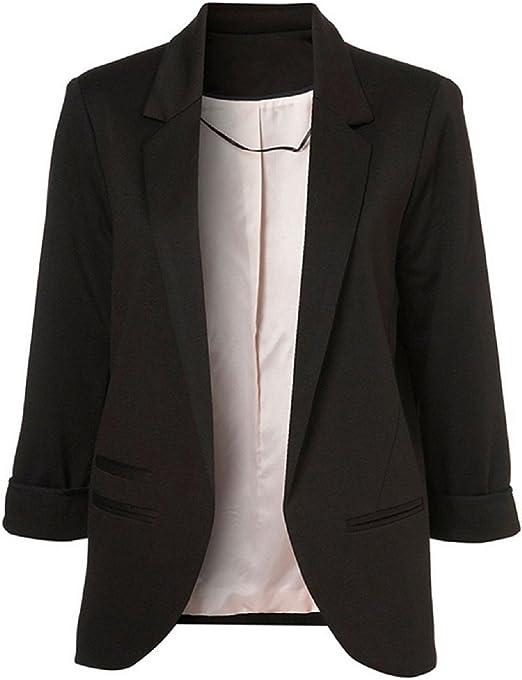 TALLA S. SEBOWEL Blazer Chaqueta Mujer Fiesta Elegante Abrigo Otoño Invierno Talla Grande