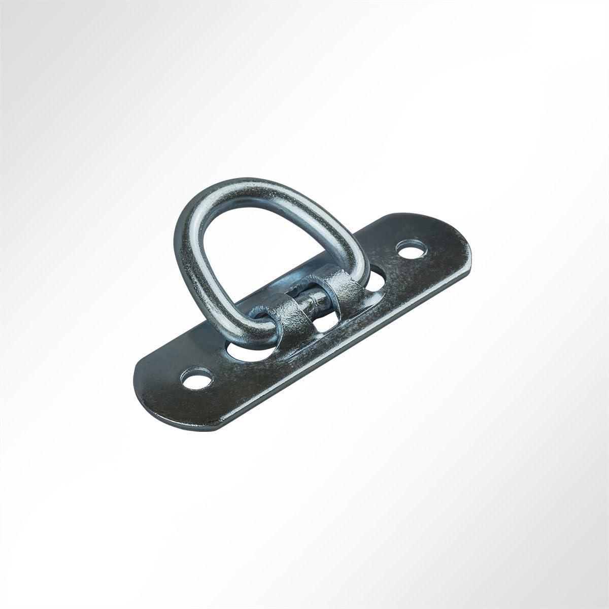BxHxL 1 St/ück 22x25x72mm in grau LYSEL/® B/ügelkrampe zum Umklappen,
