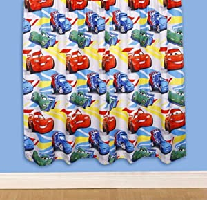 Character World 54 Inch Disney Cars Speed Curtains, Multi Color