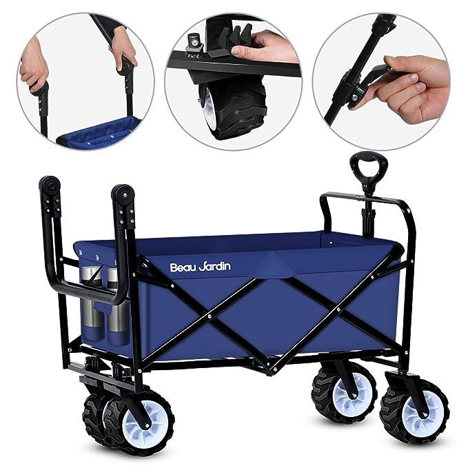 Amazon.com: Carrito plegable de Wagon plegable de tela de ...