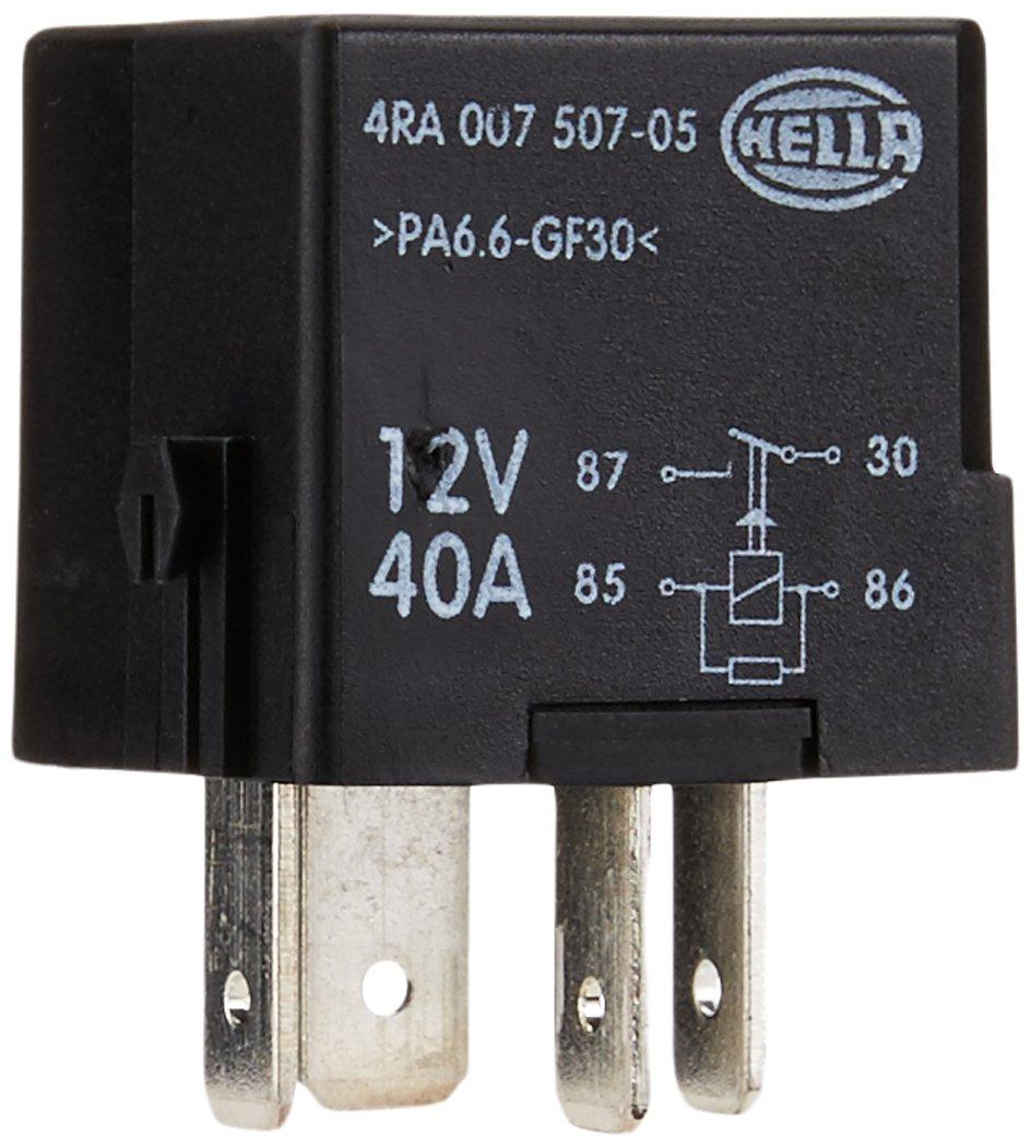 HELLA 4RA 007 507-051 Relais, Arbeitsstrom, 12V, mit Rastnase Hella KGaA Hueck & Co.