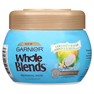 Garnier Whole Blends Hydrating Mask, Coconut Water & Vanilla Milk Extracts, 10.1 Fl Oz (Pack of 1)