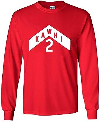 official photos c0ce7 d6a6b Long Sleeve RED Toronto Kawhi The North Jersey Logo T-Shirt ...