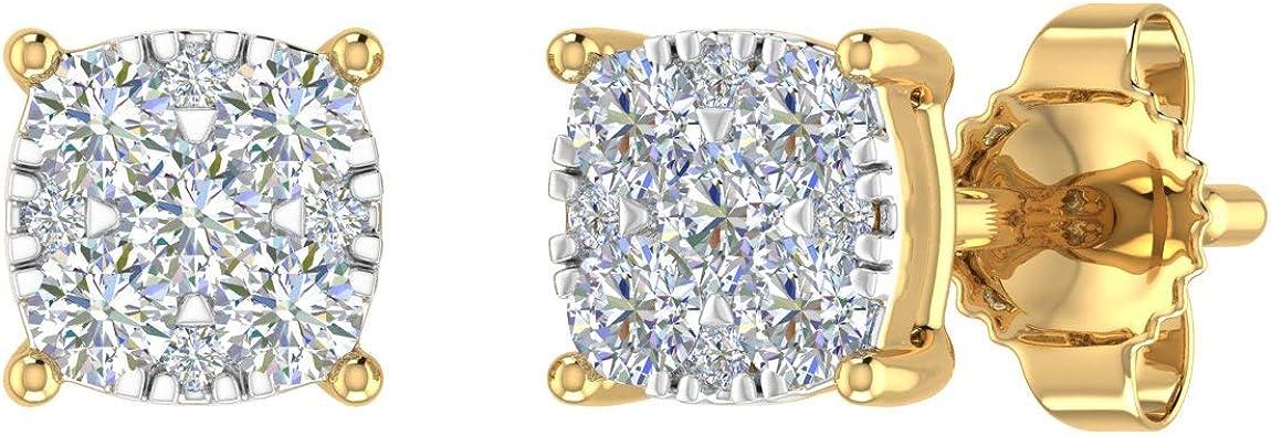 10K Gold Diamond Stud Earrings (0.22 Carat)