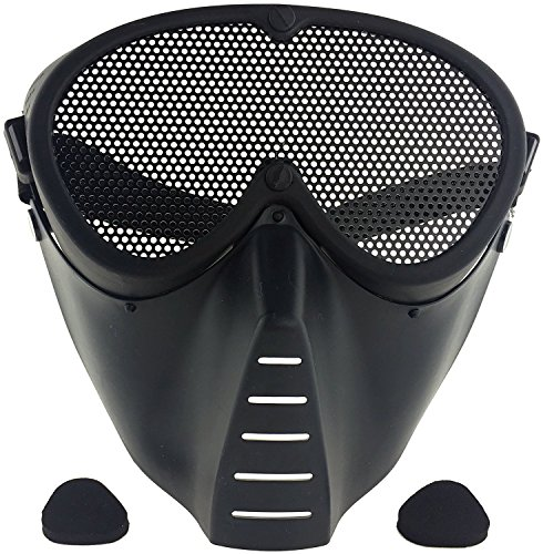 SportPro Mesh Eye Protection Full Face Mask for Airsoft - Bl