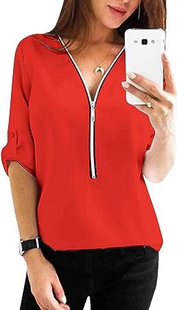 Material: las camisetas de Yoins causal para mujer están hechas de poliéster, cómodo de llevar. Se r
