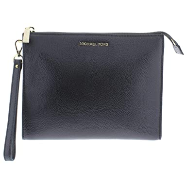 a8d0f78a94bb Image Unavailable. Image not available for. Color  Michael Kors Womens  Mercer Leather Travel Clutch Handbag ...