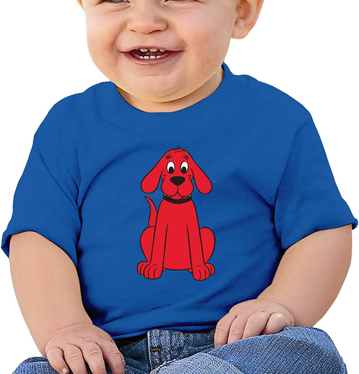 Clifford The Big Red Dog Shirt Baby Boy Girls Cartoon T Shirts Basic Shirt