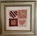 Punch Needle Embroidery FOUR SQUARE HEARTS
